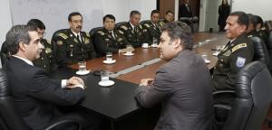 Presidente del Consejo de Judicatura, Dr. Gustavo Jalkh, recibió la visita protocolaria del Ministro del Interior, Dr. José Serrano y la cúpula policial (Con Versión Kichwa)