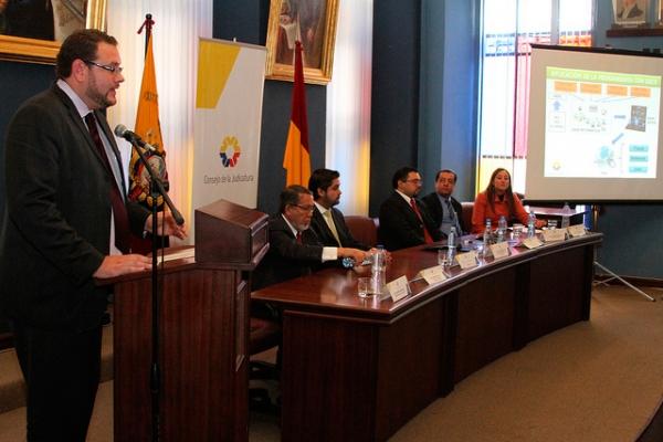 Portal Penal se presentó en Cuenca a jueces, fiscales y defensores públicos