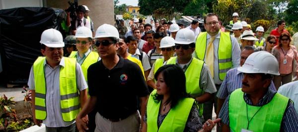 Presidente Rafael Correa visita complejo judicial de Macas