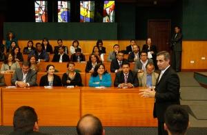 Presidente del Consejo de la Judicatura dicta conferencia sobre Mediación y Cultura de Paz