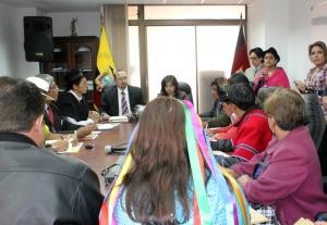 Autoridades del Consejo de la Judicatura de Transición se reunieron con representantes de Pueblos y Nacionalidades del país