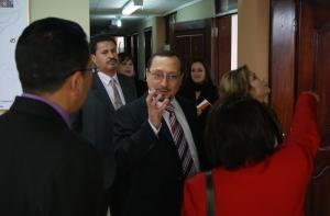 Presidente del Consejo de la Judicatura de Transición realizó una inspección por instalaciones de justicia, en El Carchi