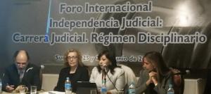 Vocal Tania Arias presentó ponencia en Bolivia acerca de Políticas de Género en la implementación de la carrera judicial y fiscal (Con verisón Kichwa)