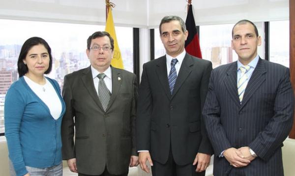 Reunión de Autoridades del Consejo de la Judicatura con Presidente de la Corte Nacional de Justicia.