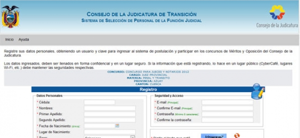 1.131 postulantes a jueces y notarios en segundo día de convocatoria